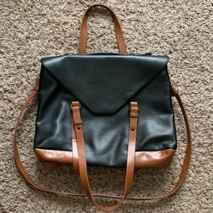 Zara Two-Toned Crossbody Messenger Shoulder Bag